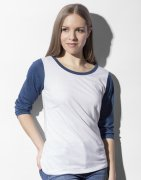 Dames Baseball T-shirt 3/4 mouw Nakedshirt TF-LSL-O-TB140