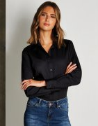 Dames blouse Lange mouw borduren