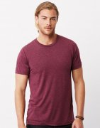 Heren T-shirt Bella Triblend Crew Neck 3413