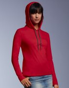 Dames T-shirt met Capuchon Anvil Basic 887L