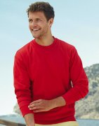 Heren Sweater Fruit of the Loom Lightweight Set-In
