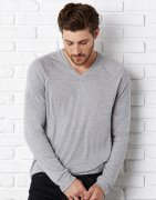 Heren Sweater Bella Unisex V-Neck 3995