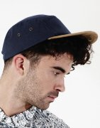 Cap 5 Panel Suede Peak B658
