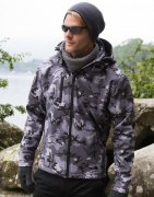 Softshell Camouflage Jas Result Hooded R235X