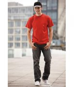 T-shirt James & Nicholson Men's Round-T Pocket JN920