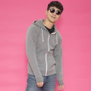 Heren Hooded Sweater met Rits AWDis JH058